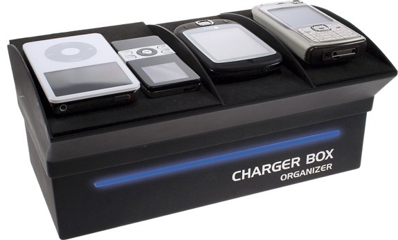 Charger Box Kabel en Power Adapter Organizer met stylish en elegant design Black
