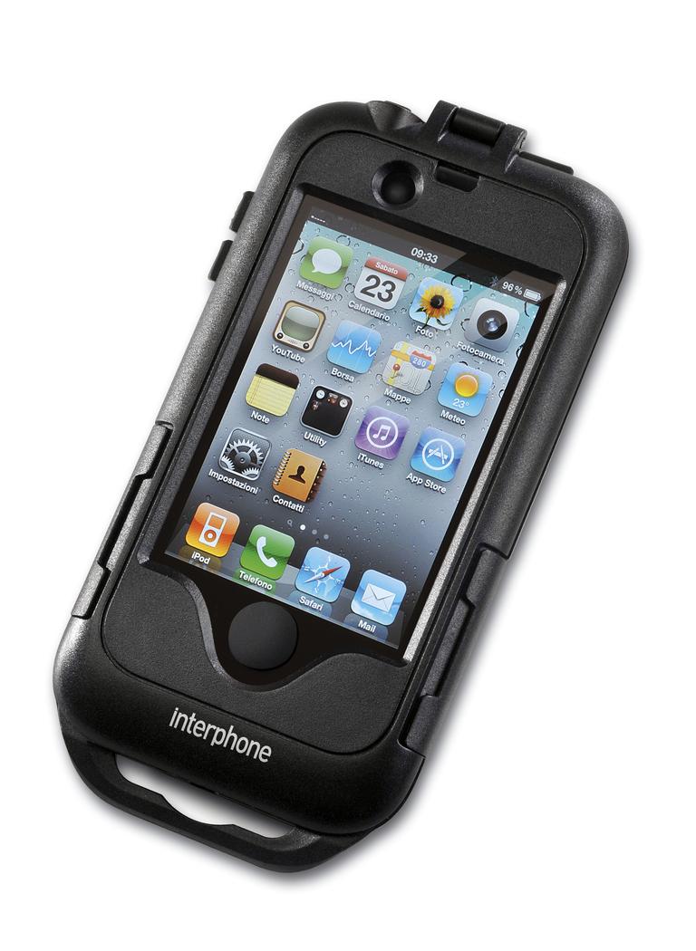 Interphone SMIPHONE4 iPhone 4-4S houder voor Fiets, Scooter en Motor Sturen